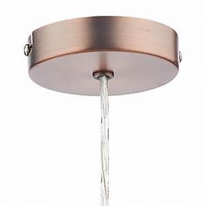 Bhs easy fit ceiling lights : Zephyr copper easy fit pendant