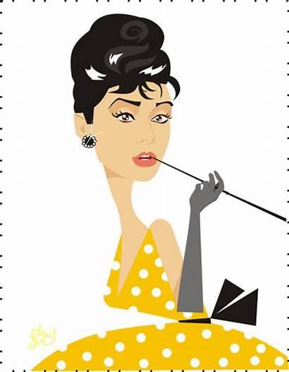 Audrey Hepburn Cartoon Actress Star Cartoons Famous