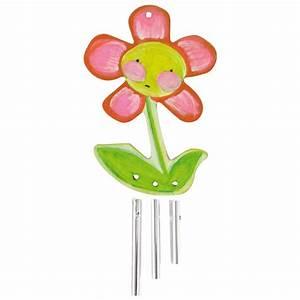 Fleur En Bois : carillon fleur en bois 11x8cm d corer ~ Dallasstarsshop.com Idées de Décoration