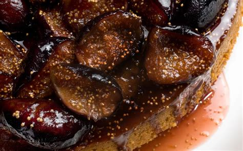 fig recipes spiced honey cake with caramelized figs recipe chowhound
