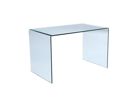 vente unique bureau bureau elstron verre trempé 12mm transparent 120 cm