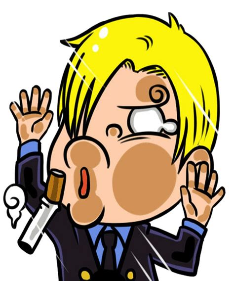 sanji one anime character sticker by captain beta