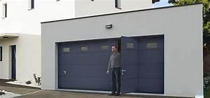 Porte De Garage Sectionnelle Avec Porte : porte de garage sectionnelle avec portillon iso45 ~ Edinachiropracticcenter.com Idées de Décoration