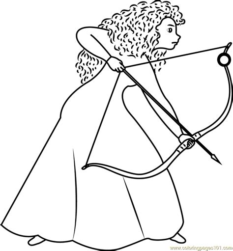 girl  long curly red hair coloring page  brave