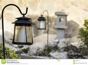 garten mit solarlampen stockfoto bild 50035414 With französischer balkon mit garten solarlampen