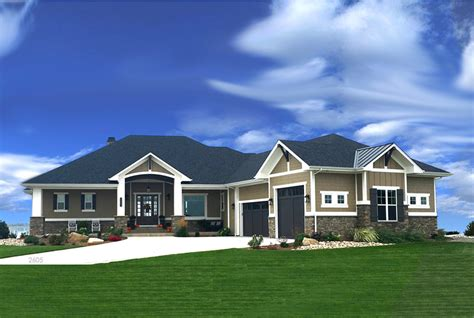 transitional ranch house plan  bedrms  baths