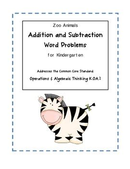 zoo animal addition subtraction word problems