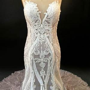 high quality handmade embroidered french lace wedding With french lace wedding dress