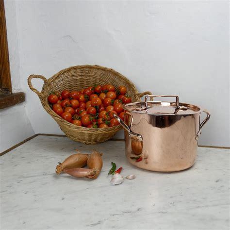 casserole  shallow stockpot  usable copper kitchenware