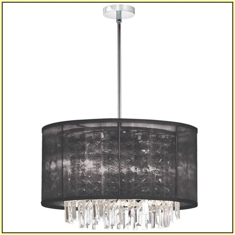 drum shade chandelier with crystals home design ideas