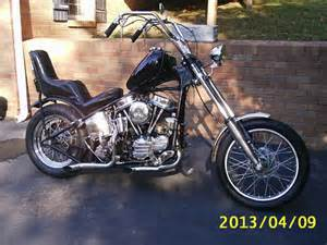 Old School Harley Panhead Chopper