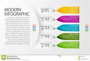 Modern Infographic Twisted Band Design For Multiple Of Use