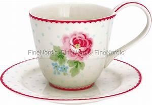 Tasse Mit Untertasse : greengate tasse mit untertasse cup saucer lily white ~ Sanjose-hotels-ca.com Haus und Dekorationen
