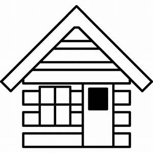 Cabin house outline Icons | Free Download