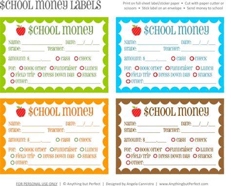 school  printable lunch money slip