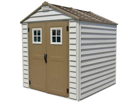 plastic sheds duramax 30315 storemax vinyl storage shed 7x7 with foundation