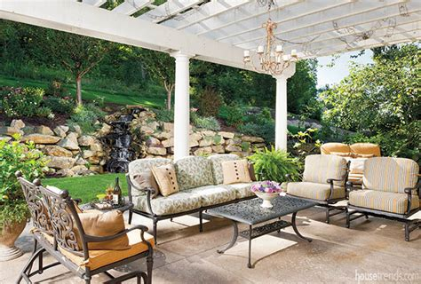 cushioned patio furniture adds comfort to the outdoors