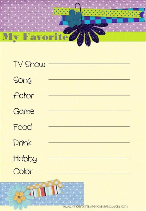 images   favorite  template printable