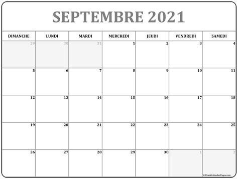 septembre  calendrier imprimable calendrier gratuit