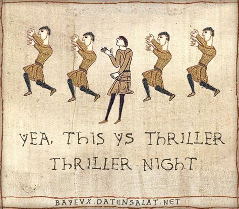 Bayeux Tapestry Meme - bayeux thriller medieval macros bayeux tapestry parodies know your meme