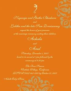 Hindu printed samples for Hindu wedding invitations messages