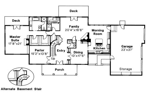 center colonial floor plans colonial house plans clairmont 10 041 associated designs