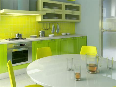 minimalist kitchen design  green color  home ideas