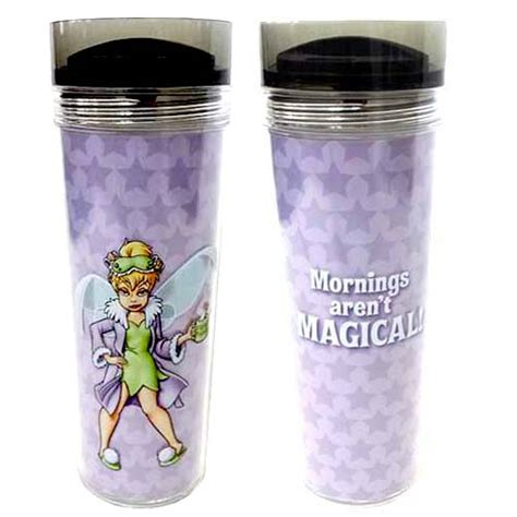 disney travel mug tinker bell mornings arent magical
