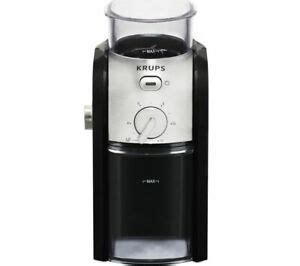 Krups coffee grinder are powerful and compact, and they'll always get the most out of your beans. KRUPS Expert Burr GVX23140 Electric Coffee Grinder Black & St. Steel - Currys   eBay
