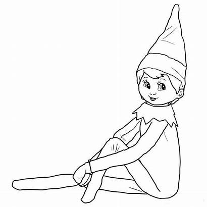Elf Shelf Coloring Pages Printable Drawing Elfs