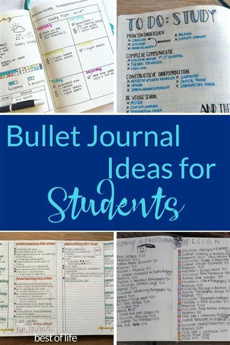 easiest bullet journal ideas  students