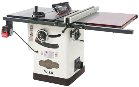 cabinet table saw reviews 2016 shop fox w1824 hybrid table saw with extension table
