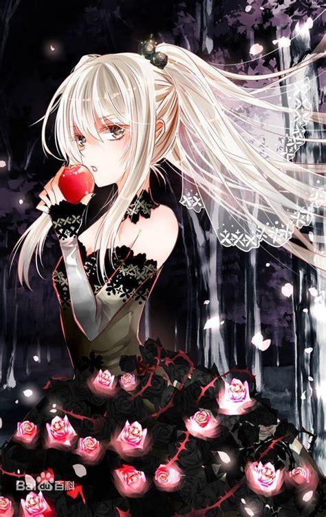 black  red anime anime gothic anime cool anime girl