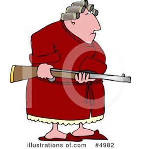 Crazy Old Lady Cartoon Clip Art