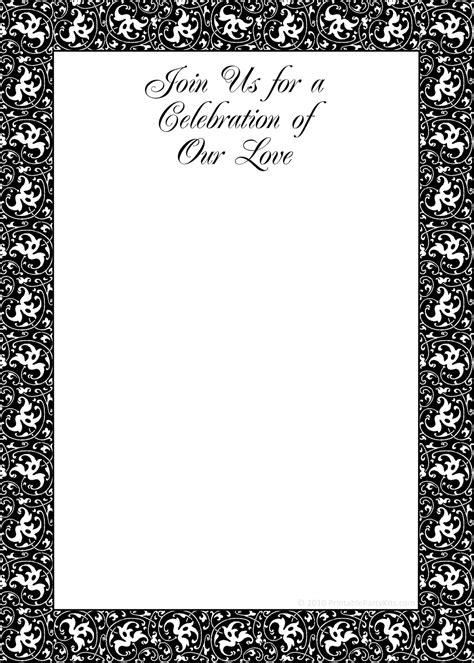 party invitation templates printable black  white