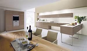 Arbeitsplatte Küche Beige : alno sign hochglanz k che mit elektroger ten und einbausp le deine ~ Indierocktalk.com Haus und Dekorationen