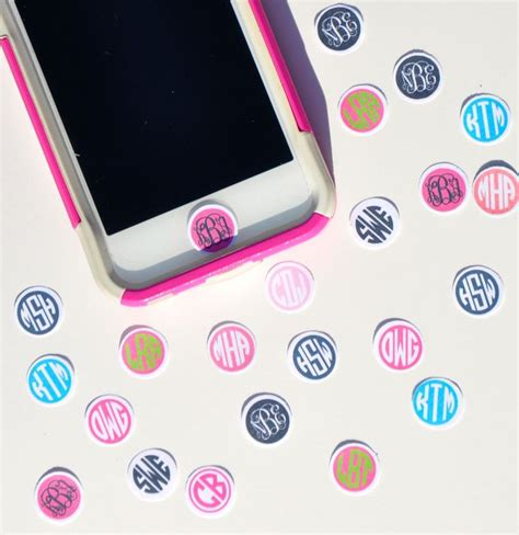 iphone home button sticker 25 best ideas about monograms on monogram