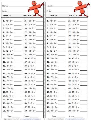 division worksheets basic