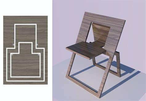 simple flat folding chair