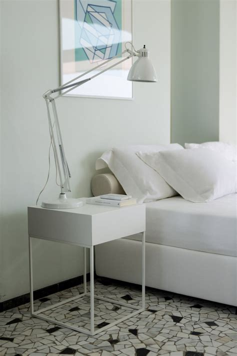 Bed With White Nightstands by Sophisticated And Modern Nightstands With A Scandinavian Feel