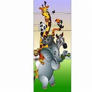 Stickers Animaux De La Jungle : stickers porte enfant animaux de la jungle art d co stickers ~ Mglfilm.com Idées de Décoration