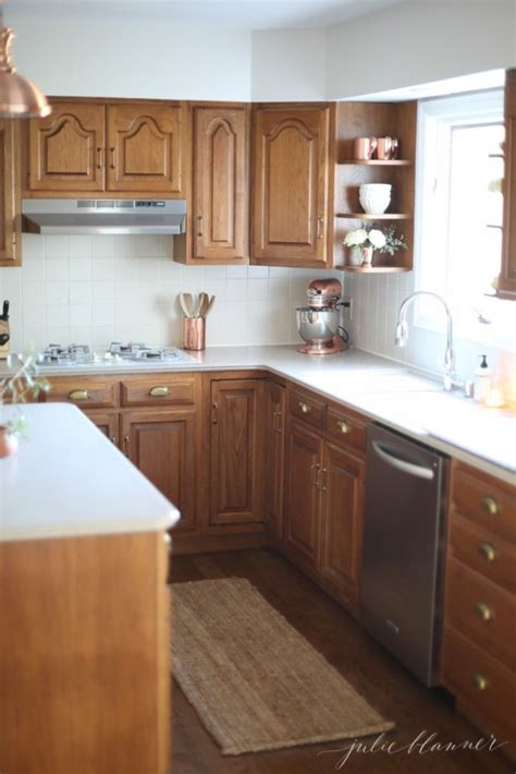 ideas   update oak wood cabinets