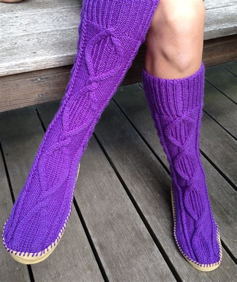 Slipper Socks And Boots Knitting Patterns  In The Loop