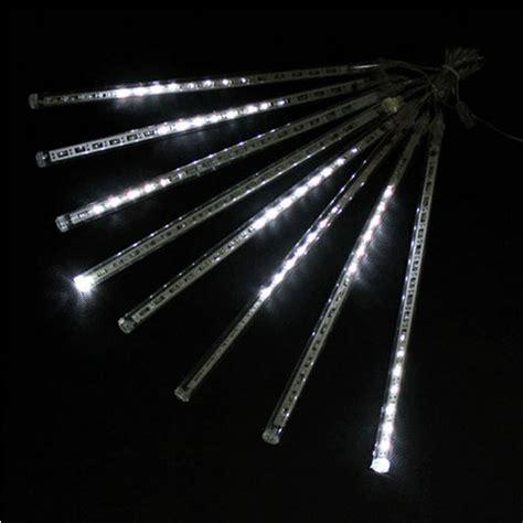 decorative fluorescent light 30cm 8pcs 18 led white color led meteor shower