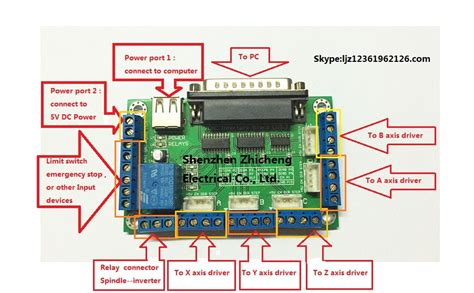 aliexpress buy mach3 5 axis cnc breakout board interface board for stepper motor driver