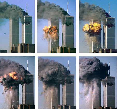 hijacked planes destroy world trade center