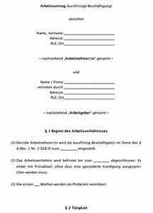 Abrechnung Kurzfristige Beschäftigung : vertrag vorlage arbeitsvertrag minijob geringf gige besch ftigung ~ Themetempest.com Abrechnung
