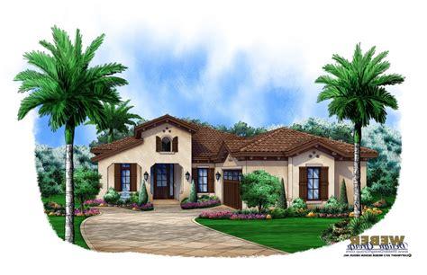 Spanish Courtyard Mediterranean House Plans Plan With
