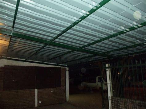 techo en galera estructura de hierro corredizos