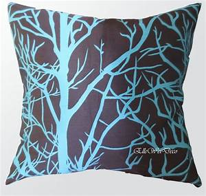 amazonsmile elleweideco modern brown and cyan blue tree With blue and brown sofa pillows